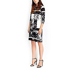 Wallis - Monochrome abstract floral dress