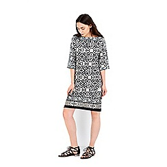 Wallis - Monochrome printed tunic dress