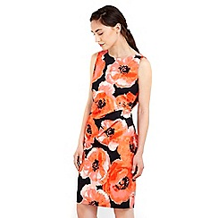 Wallis - Red floral printed shift dress