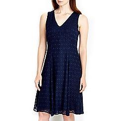 Wallis - Navy swing dress