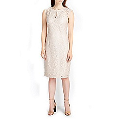 Wallis - Oyster keyhole lace dress