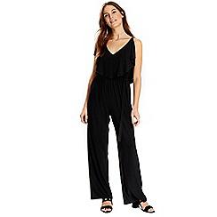 Wallis - Black ruffle top jumpsuit