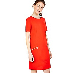 Wallis - Red lightweight zip dress