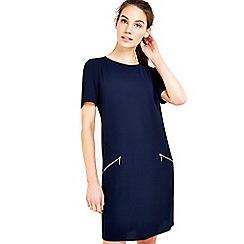 Wallis - Navy zip pocket tunic dress
