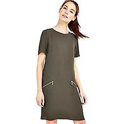 Wallis - Khaki textured dress