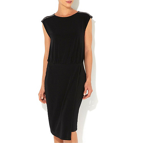 Wallis - W Collection - Black stud shoulder dress