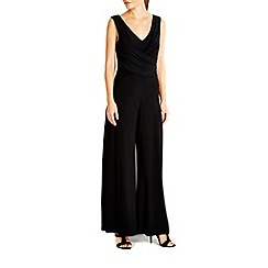 Wallis - Black mock wrap jumpsuit