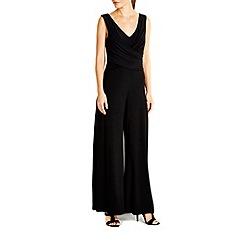 Wallis - Black mock wrap jumpsuit