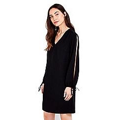 Wallis - Black split sleeve v-neck tunic dress