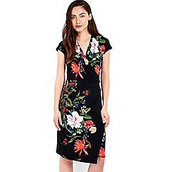 Wallis - Oriental floral printed wrap dress