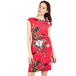 Wallis - Pink oriental floral printed dress