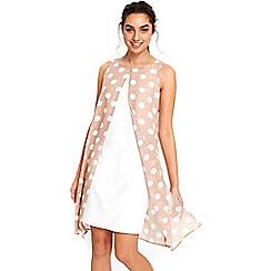 Wallis - Spot split front dress