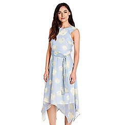 Wallis - Light blue floral sheer dress