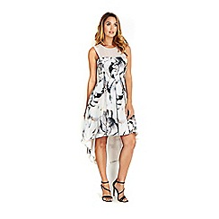 Wallis - Sapphire light grey floral dress
