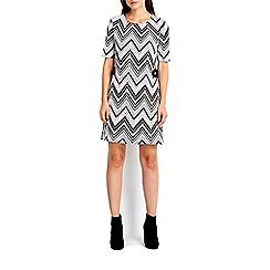 Wallis - Monochrome jacquard tunic dress