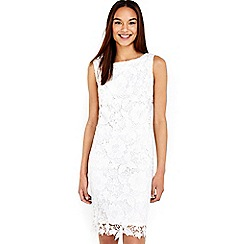 Wallis - Cream crochet lace shift dress