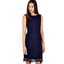 Wallis - Navy crochet lace shift dress