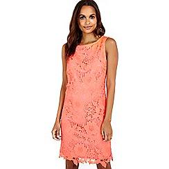 Wallis - Crochet coral lace shift dress