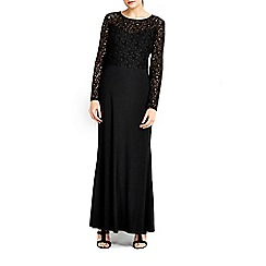 Wallis - Black top lace maxi dress