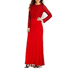 Wallis - Red lace top maxi dress
