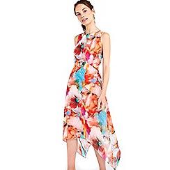 Wallis - Bright pink floral printed dress