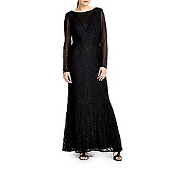 Wallis - Black lace maxi dress