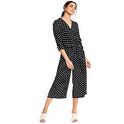 Wallis - Spot wrap jumpsuit