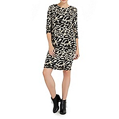 Wallis - Camo animal jacquard dress