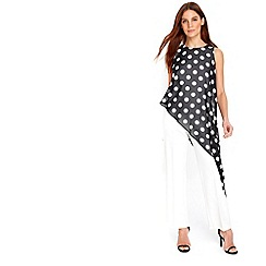 Wallis - Black spot overlay jumpsuit