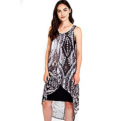Wallis - Black animal printed dress