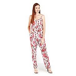 Wallis - Hermione de paula pink floral jumpsuit