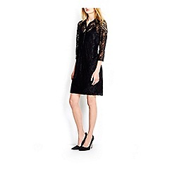Wallis - Black lace shirt dress