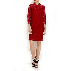 Wallis - Red lace shirt dress