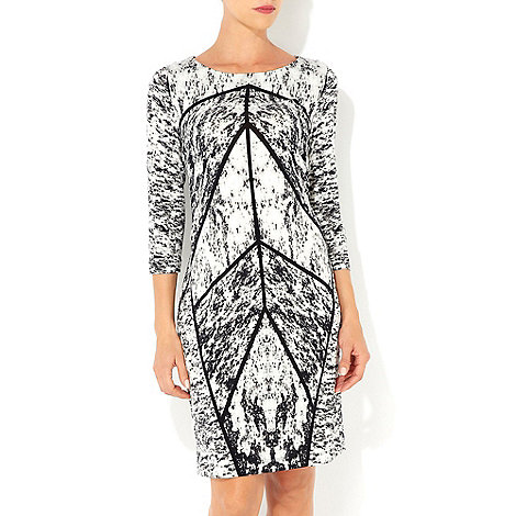 Wallis - Black and white printed dress
