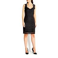 Wallis - Black eyelash lace shift dress