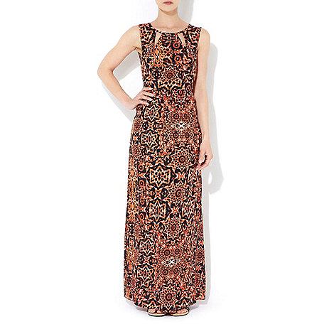 Wallis - Orange aztec maxi dress