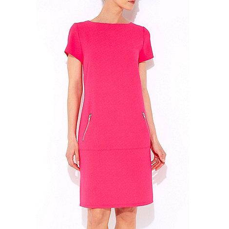 Wallis - Pink crepe drop waist dress