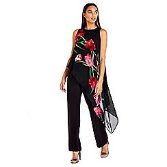 Wallis - Black oriental overlay jumpsuit