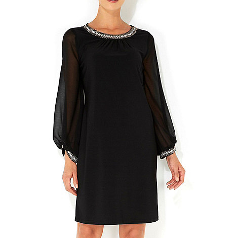 Wallis - Black embellished dress