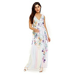 Wallis - Lilac butterfly ombre maxi dress