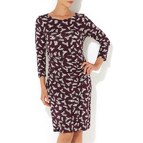 Wallis - Purple feather print dress