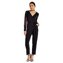 Wallis - Black embroidered jumpsuit