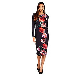 Wallis - Black oriental floral dress