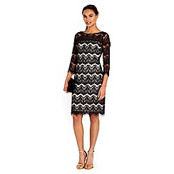 Wallis - Black scallop lace dress