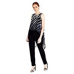 Wallis - Black zebra overlay jumpsuit