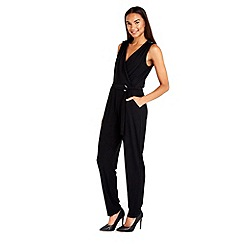 Wallis - Black wrap jumpsuit