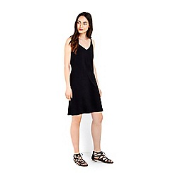 Wallis - Plain black camisole dress