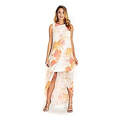Wallis - Pale pink sapphire floral overlay dress