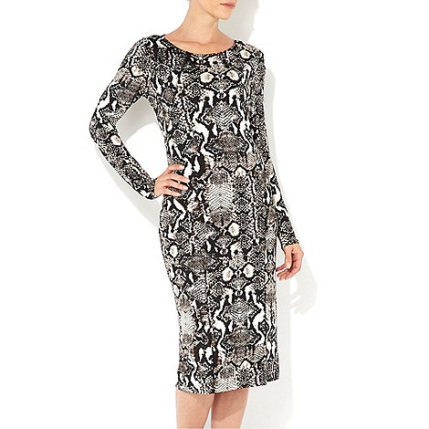 Wallis - Printed animal panelled dress