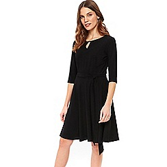 Wallis - Black keyhole fit and flare dress